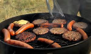image of grill and food cooking