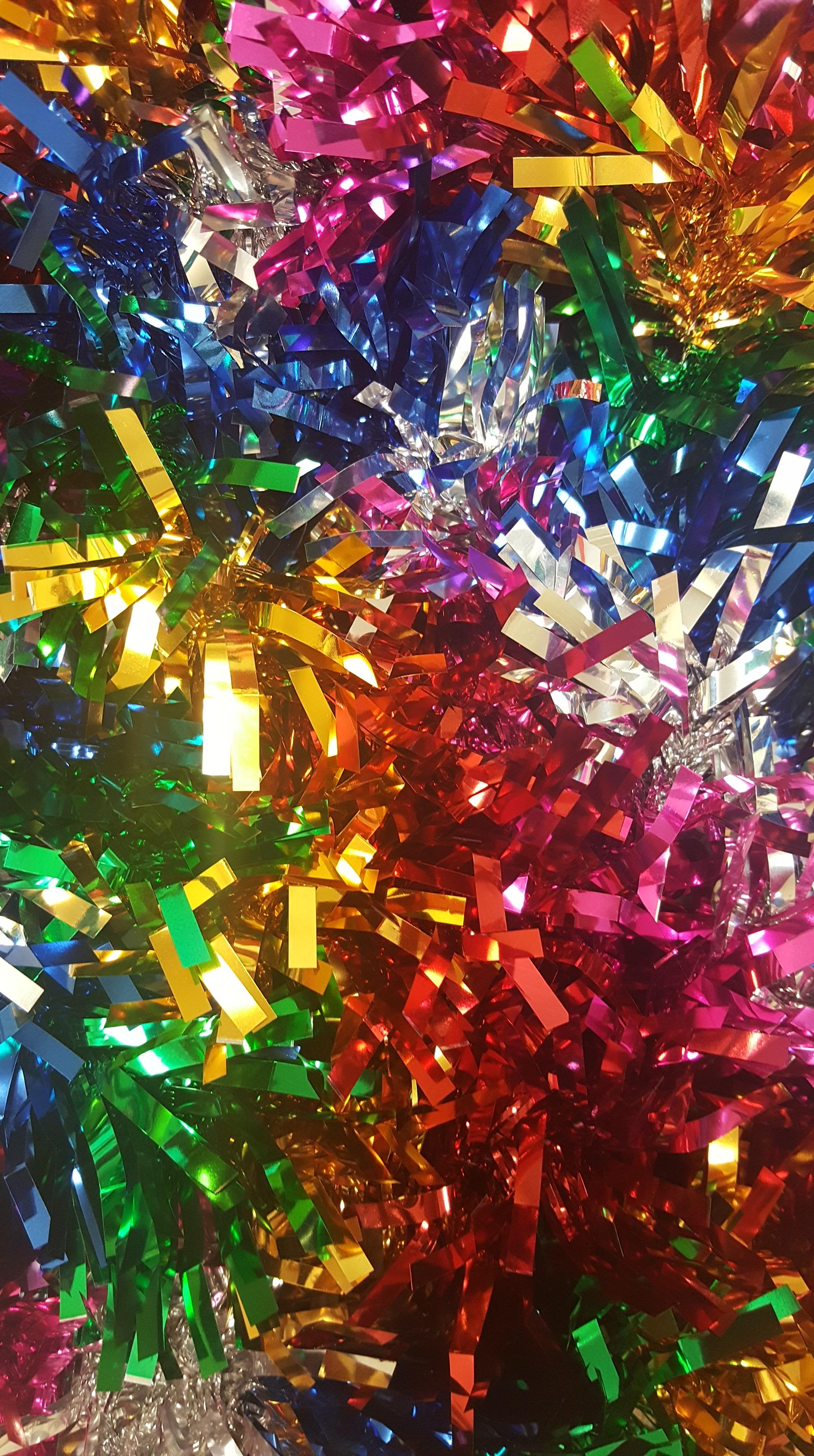 Holiday Colors tinsel