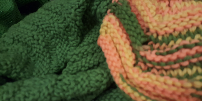 picture of a knitted blanket or afgan