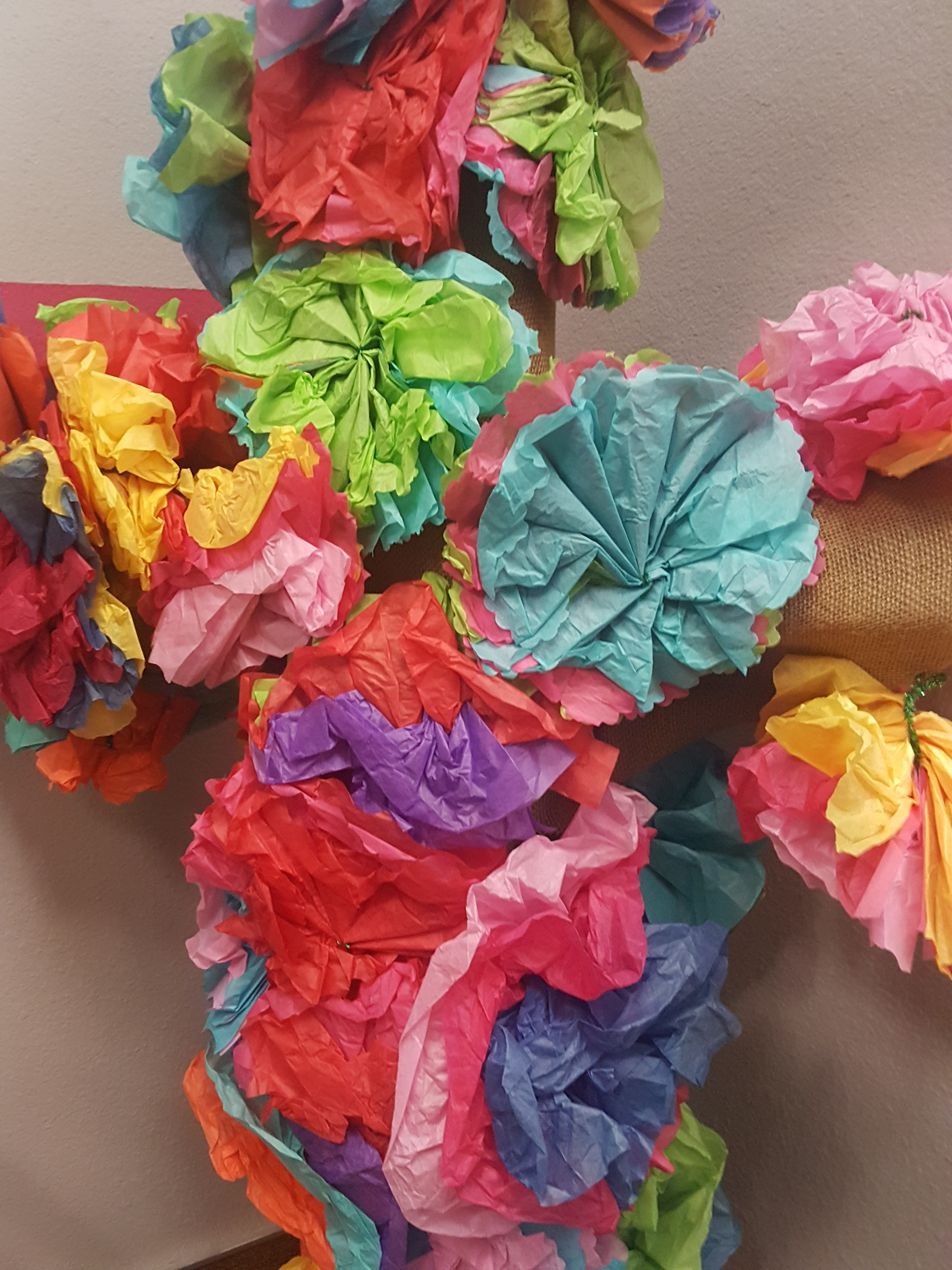 Image of pinata style cross, but the cross didn't break!